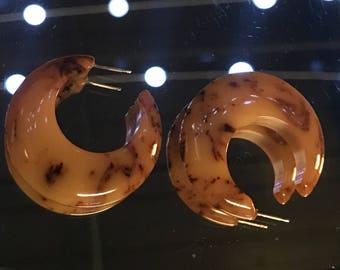 Bakelite Crescent Earrings
