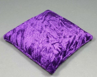 5.5 Inch Large Size Purple Crushed Velvet Crystal Pillow Sphere or Point Display Stand, CPV36L