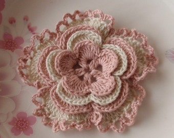 Larger Crochet Flower in 3-1/4 inches YH-136