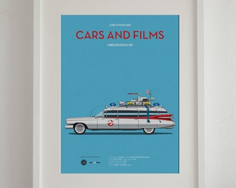 Ghost Busters car movie poster, art print A3 Cars And Films, home decor prints, car print