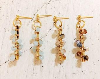 Sweet Encounter Collection | Wrapped Beads Earrings, Boho Earrings, Gift for her, Valentine, Sister Earrings, Friendship Earrings, Spring
