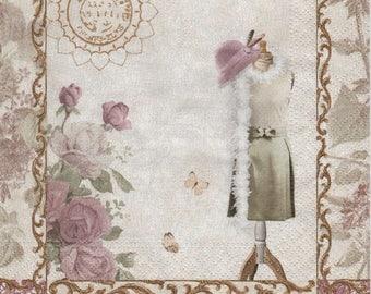 394 fashion - Model 1 towel paper 33 X 33 X 4 pattern
