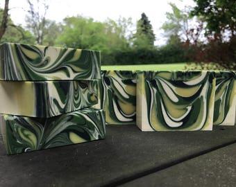 Lemongrass Cold Process Handmade Soap / 100 % Natural