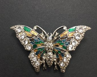 Costume jewelry butterfly brooch