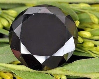 9.35Ct Natural Beautiful Round Cut Z Black Moissanite Gemstone AP74