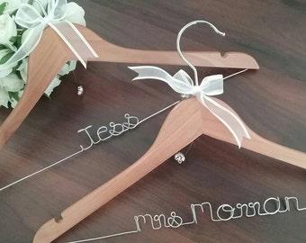 Personalised Coat Hanger, Bridal Hanger, Custom Coat Hanger; wedding coat hanger, bride hanger, personalised hanger, wedding, gift for her