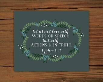 1 John 3:18 Print