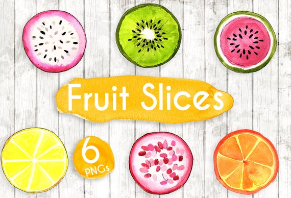 Fruit Slices Clipart Clip Art Commercial Use Vector Graphics