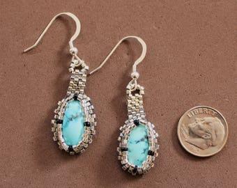 Cripple Creek Beaded Turquoise Earrings