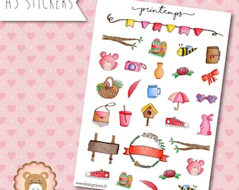 "Planners Stickers ""Printemps"""
