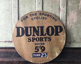 Original Dunlop Sports Cover Cardboard Sign