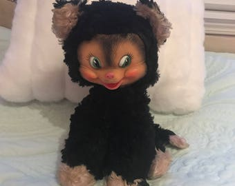 Gund Kitty [vintage mid century rubber face plush]