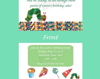 Hungry Caterpillar Invitations - 30 Invites