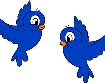 Cartoon Birds Etsy