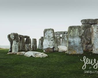 Stonehenge Photography, Large Wall Art Print, Travel Photography, Mystic, Art Print, Fine Art Photography - Stones