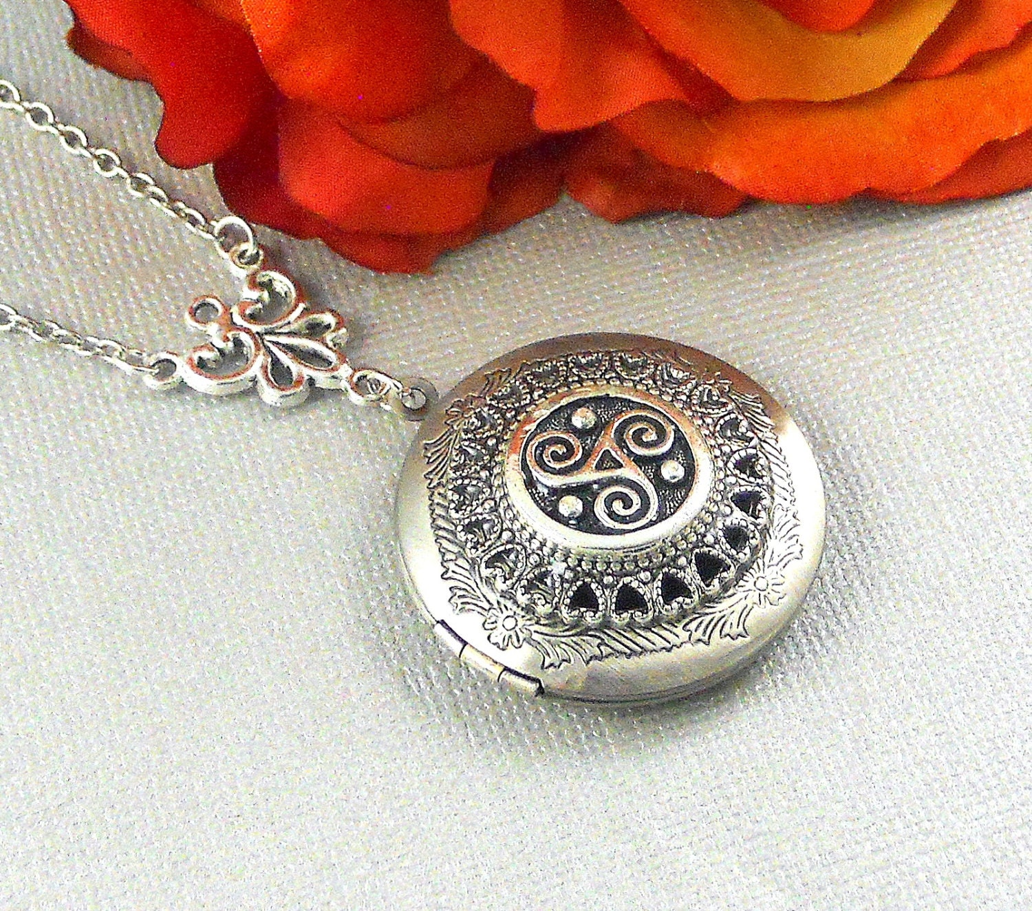 the locket bridesmaids wedding necklace birdznbeez jewelry original birthday lockets celtic by pin silver gift knot