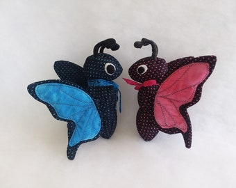 Fluttery Butterfly plush in bright colors