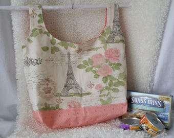 Grocery Bag or Tote Reusable Paris Theme