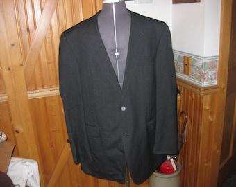 Mens Mod Ratpack Madmen Wool Black charcoal classic Stafford pure wool 44Long pleated cuffed pants 40x30 EUC ndIenKrl