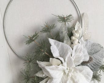 Holiday Poinsettia Wreath