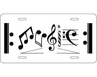 License Plates- MUSIC, License Plate, Garage Art, Cute License Plate, Personalized License Plate, Front License Plate