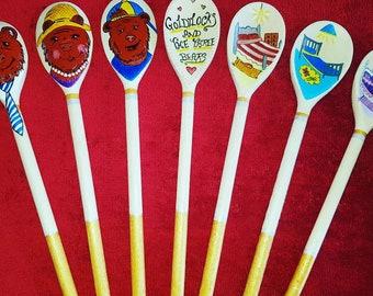 Goldilocks and the three bears story spoons