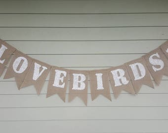 Lovebirds wedding banner
