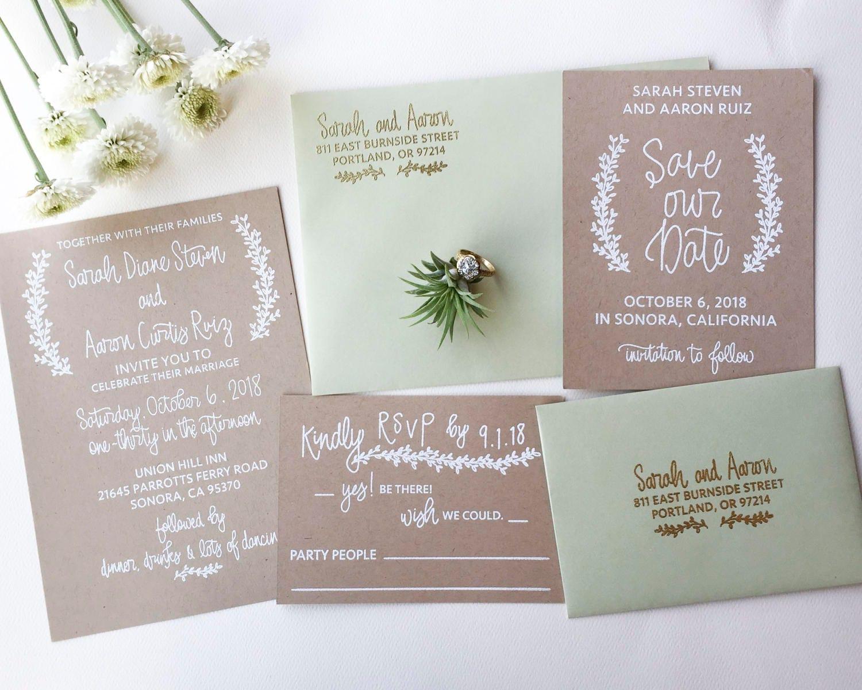 Wedding Invitation Stamp Suite Wedding Invitation RSVP and
