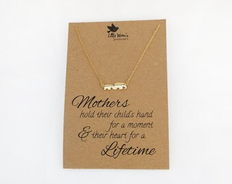 Elephant Necklace // Mothers Day Gift • New Mum Gift • Baby Shower • Gift for Mum • Elephant Jewellery • Mom Gift • Dainty Necklace