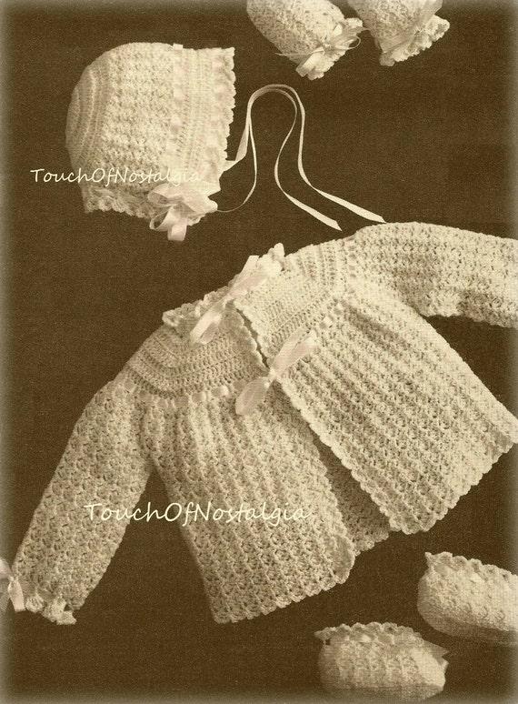 Crochet Baby LAYETTE Vintage Crochet Pattern HEIRLOOM LACE