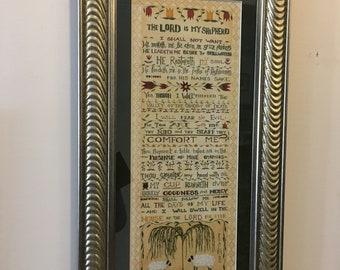 Frames Framed Art The Lord Is My Shepherd 23rd Psalm Framed