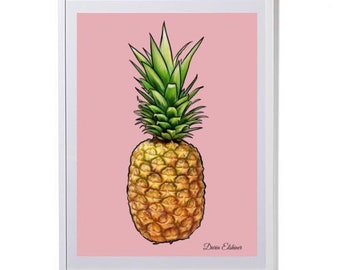 Pineapple in Blush (Print) by Daria Elshiner