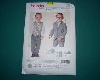 New Burda Boys'  Dress Suit Pattern, 9443 (2-8) (Free US Shipping)