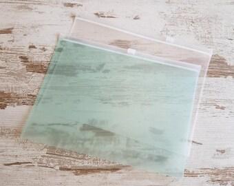 A5 plastic zip envelop