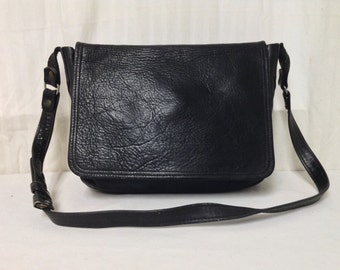 Black Leather saddle bag purse,bag,Shoulder Bag