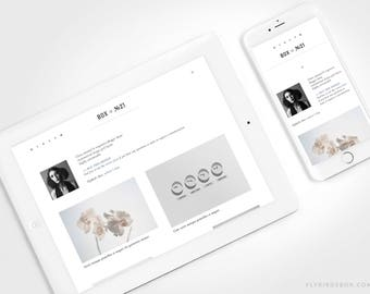 Minimal Blogger Template ⊡ Box No21 ⊳ Pre-made Responsive Blogger Theme with an Asymmetrical Blog Layout