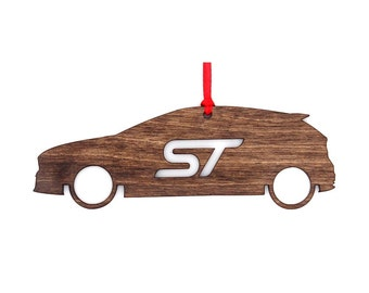 Wooden Ford Focus ST Ornament