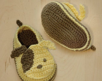 Crochet Pattern Puppy Baby Booties Puppies Preemie Socks Animal Shoes Doggy Applique Doggie Dog Baby Slippers Crochet Pattern (PB03-Y-PAT)