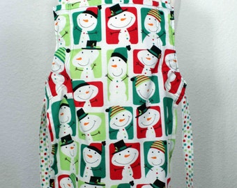 Snowman Adjustable Children's Apron