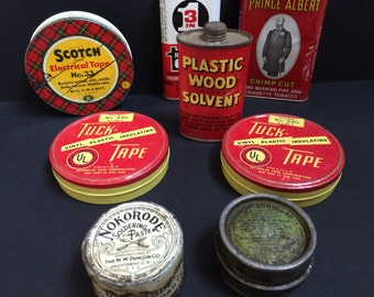 Assorted Vintage Tins ***SALE****