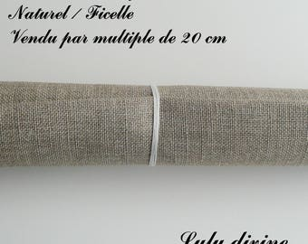 Linen embroidery 12 threads/cm, natural / Twine