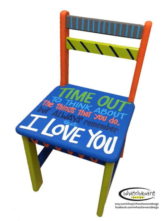 Items similar to Custom hand-painted TIME OUT chair toddler child kid I Love You on Etsy  sc 1 st  Etsy & Items similar to Custom hand-painted TIME OUT chair toddler child ...
