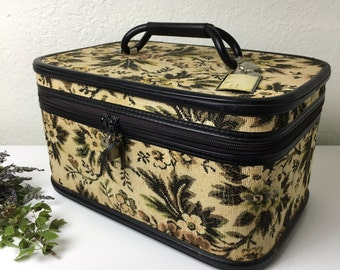 60's Tapestry Train Case