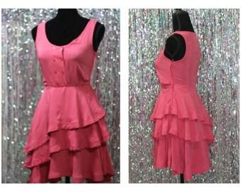 90's Pink Ruffled Dress (4)