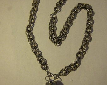 Awesome Old Silver Whistle on Silver Chain