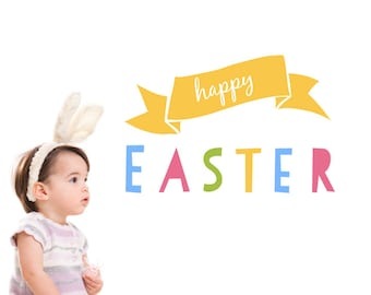 Easter Wall Decals ON SALE- Happy Easter Wall Decals