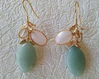 Mint stone earrings