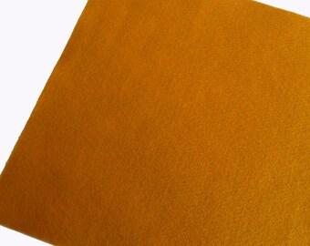 Fieltro Mostaza, rollo fieltro, Tamaño 25 cm x 90 cm, fieltro muy suave al tacto, fieltro acrilico, fieltro de gran calidad, fieltro