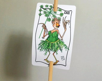 Dill Sign Metal Herb Garden Sign on Bamboo Stake UV Protected Against Fading 2x3 sign 12 inch stake Customizable