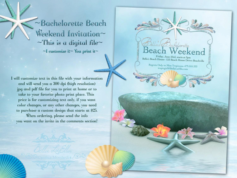 Beach Party Invitation Beach Weekend Summer Invitations